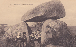 29 . TREGUNC. CPA. LE DOLMEN. ANIMATION ENFANTS - Dolmen & Menhirs