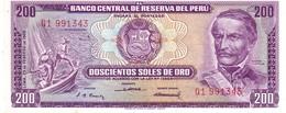 Perù P.96 200 Soles 1968 A-unc - Pérou