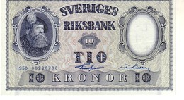 Sweden P.43 10 Kronor 1958 Unc - Svezia