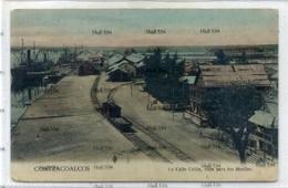 Mexico Veracruz Coatzacoalcos 1 A Calle Colon Vista Paros Los Muelles Poscard 1910s - Mexico