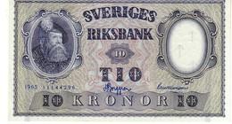 Sweden P.43 10 Kronor 1962 Unc - Svezia