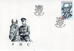 Czech Republic - 2018 - Tomáš Garrigue Masaryk, First Czechoslovak President - FDC (first Day Cover) - FDC