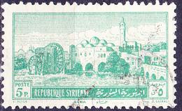 Syrien Syria - Wasserschöpfräder Und Koranschule Am Orontes (MiNr: 606) 1952 - Gest Used Obl - Syria