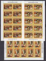 O176. 10x Guinea - MNH - Art - Paintings - Leonardo Da Vinci - Full Sheet - Art