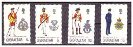 GIBILTERRA - 1974 - UNIFORMI MILITARI. 6A SERIE.  SERIE COMPLETA. - MNH** - Gibilterra