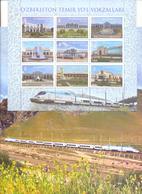 2018. Uzbekistan, Railway Stations Of Uzbekistan, Booklet, Mint/** - Uzbekistan
