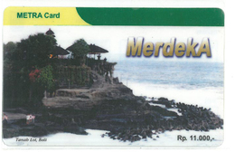 METRA CARD - TELKOM GROUP - Temple In Bali, Tanah Lot - Indonesia