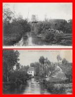 2 CPA (89) VILLENEUVE-L'ARCHEVEQUE.  Le Vieux Moulin...H833 - Villeneuve-l'Archevêque