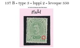 TB: 137B - Type 3 - Avec Variété LUPPI 2 / LEVEQUE 350  - MNH - 1915-1920 Albert I