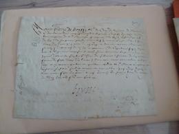 01/05/1608 Velin Autographe Boysse Régiment De Navarre? Navaenx?  Reçu - Documents