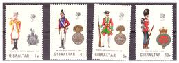 GIBILTERRA - 1973 - UNIFORMI MILITARI. 5A SERIE.  SERIE COMPLETA. - MNH** - Gibilterra