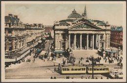 La Bourse Et La Rue De La Bourse, Bruxelles, C.1930 - Edition Novelty Photo CPA - Brussels (City)