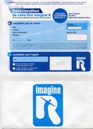 Formulaire (avec Enveloppe Attenante) à Envoyer En Cas De Détérioration De La Carte Imagine R - SNCF / RATP - RER Paris - Titres De Transport