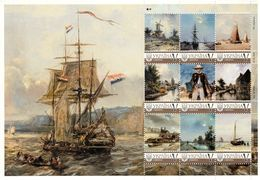 Ukraine 2018, Painting, B. Jongkind, Sailing, Sheetlet Of 9v - Ukraine