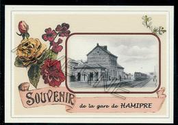 HAMIPRE...  2 Cartes Souvenirs Gare ... Train  Creations Modernes Série Limitée - Neufchateau