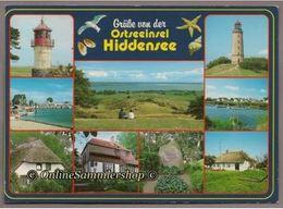 BRD - AK -  Ostseeinsel Hiddensee / Leuchtürme, Hafen, Häuser - Hiddensee