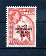 1957 GHANA N.3B MNH ** - Ghana (1957-...)