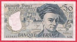 """50 Francs """"Quentin De La Tour"""" 1989 Série -S.59 -AUCUN TROU D EPINGLE--F/TTB+ - 1962-1997 ''Francs''"""