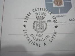 G1 ITALIA GATTINARA VINO UVA ENOLOGIA WINE WEIN ENOLOGY ENOLOGIE - ANNULLO 1990 LOGO COMUNE VITE - Agriculture