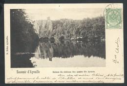 +++ CPA - Souvenir D' AYWAILLE - Ruines Du Château Des Quatre Fils Aymon    // - Aywaille