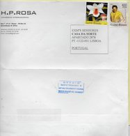 TIMBRES-STAMPS -LETTRE POUR PORTUGAL- GUINEE-BISSAU/GUINEA BISSAU-TIMBRES ELVIS PRESLEY ET ORCHIDÉE - Elvis Presley