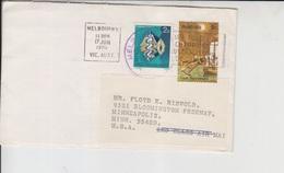 Australia Cover To USA, Fish, Stamps  (A-264) - 1952-65 Elizabeth II : Pre-Decimals