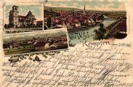 Kempten, Farb-Litho, 1900 - Kempten