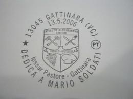G1 ITALIA GATTINARA VINO UVA ENOLOGIA WINE WEIN ENOLOGY ENOLOGIE - ANNULLO 2006 ISTITUTO ALBERGHIERO MARIO SOLDATI - Francobolli