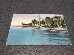 ANTIQUE PHOTO POSTCARD SÃO TOMÉ - PONTA AONDE DESEMBARCARAM OS DESCOBRIDORES DA ILHA USED NOT CIRCULATED 1958 - Sao Tome And Principe