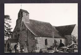 CPSM 78 - SAINT-LAMBERT-DES-BOIS - L'Eglise - TB PLAN EDIFICE RELIGIEUX + Cimetière Village Au 1er Plan - France