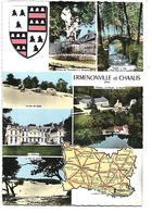CARTE DE L'OISE - ERMENONVILLE Et CHAALIS - Petites Vues Et Ecussson - Maps