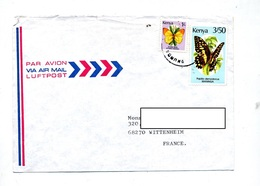 Lettre Cachet ? Sur Papillon - Kenya (1963-...)