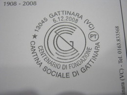 G1 ITALIA GATTINARA VINO UVA ENOLOGIA WINE WEIN ENOLOGY ENOLOGIE - ANNULLO 2008 CANTINA SOCIALE COOP - Alimentazione