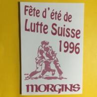 9048 - Fête D'Eté  De Lutte Suisse Morgins 1996 - Etiquettes