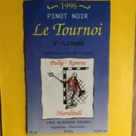9054 - Pinot Noir Le Tournoi St-Livres Pully-Renens Handball Suisse - Voitures