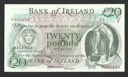 IRELAND / NORTHERN BANK OF IRELAND 20 POUNDS ND (1980) P# 67Ab VF++ RARE - [ 2] Nordirland