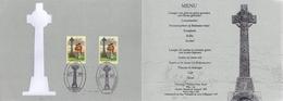 Ireland 1995 Mi. 897 Belgium Mi. 2652 FD Document Menu Card 1996, Irish Soldiers, Battle Of Fontenoy - FDC