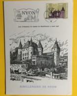 8023 - Bimillénaire De Nyon Château Nyon 15-16.05 1956 - Maximum Cards