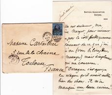 Timbre Victoria 2 P 1/2 Sur Lettre Manuscrite D'Emile CARTAILHAC (1845-1921) Oblitéré 1894 - Marcophilie