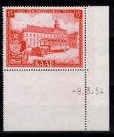 Sarre YV 329 N** Petit Coin Daté Cote 6+ Euros - Neufs