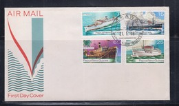 Papua New Guinea 1976 Ship's Of The 30's FDC(ARAWA Cancellation) - Papouasie-Nouvelle-Guinée