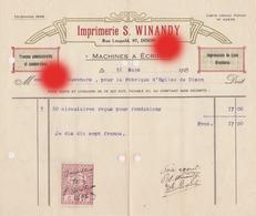 DISON 1923 Imprimerie WINANDY  Rue Léopold - Imprenta & Papelería