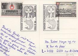 DI113  Wiener Donauinselfest   Autriche  1985  TTB  (10 Europagespräche Der Stadt Wien 1967 - Europäischer Gedanke