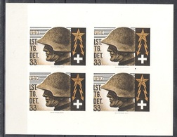 Schweiz Soldatenmarken Telegraphenpioniere Lst. Tg. Det. 33 ** Geschn. - Soldaten Briefmarken