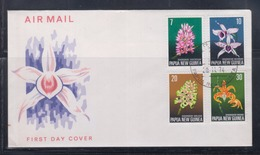 Papua New Guinea 1974 Orchids FDC(ARAWA Cancellation) - Papouasie-Nouvelle-Guinée