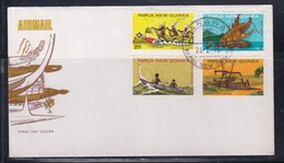 Papua New Guinea 1975 Canoes FDC(ARAWA Cancellation) - Papouasie-Nouvelle-Guinée