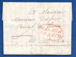 Lettre De Malaga -  Pour Alicante --4 Mars 1820  - Consul De France - Racontant La Révolte De La Ville - Espagne