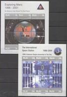 R726 1998 PALAU SPACE EXPLORING MARS INTERNATIONAL SPACE STATION 2KB MNH - Space