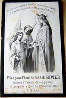 MEMORANDUM  SOUVENIR  MARIE RIVIER    FAIRE PART DECES - Décès