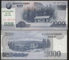 Korea North 2000 Won (2018) Pick NEW UNC - Corée Du Nord
